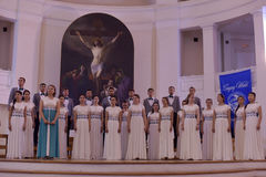 The XIV International Festival of Choral Art Singing World. Cathedral of Saints Peter and Paul. St. Petersburg, Russia Stock Photos
