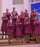 The XIV International Festival of Choral Art Singing World. Cathedral of Saints Peter and Paul. St. Petersburg, Russia Stock Photography