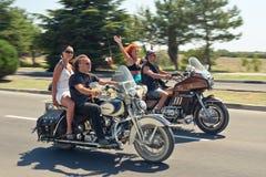XIV International Moto Fahrrad-Erscheinen Stockfotografie