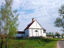 XIX世纪白色教会  库存图片