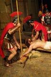 XIX编辑安蒂尼亚诺通过Crucis (在) -行动选拔2007年 免版税库存照片