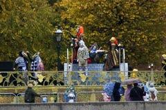 XIX青年时期和学生世界节日在莫斯科 库存图片