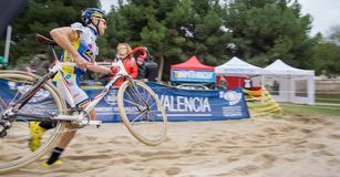 XIX вариант cyclo-креста города Валенсии пинает  Стоковая Фотография