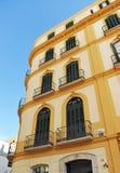 XIX century building in the Plaza de la Merced, Malaga, Andalusia, Spain Stock Image