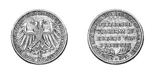 XIX century, gulden from 1848 of Frederick William IV of Prussia Royalty Free Stock Photography