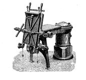 XIX century industrial machinery, casting machine Stock Images