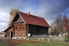 XIX century rich farmer home. Very rare example of XIX century rich peasant home. Very interesting craftsmanship of Russian wood master. Museum of wood Royalty Free Stock Photography