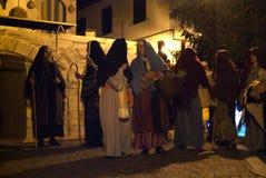 XIX edition Antignano Via Crucis (AT) -Act single 2007. Antignano (AT) -Italy: April 6, 2007: With a theatrical setting, Antignano (asti), April 6, 2007 Stock Photo