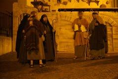 XIX edition Antignano Via Crucis (AT) -Act single 2007. Antignano (AT) -Italy: April 6, 2007: With a theatrical setting, Antignano (asti), April 6, 2007 Stock Photos