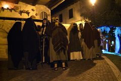 XIX edition Antignano Via Crucis (AT) -Act single 2007 Royalty Free Stock Photography