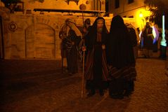 XIX edition Antignano Via Crucis (AT) -Act single 2007 Stock Image