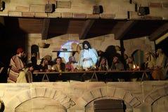 XIX edition Antignano Via Crucis (AT) -Act single 2007. Antignano (AT) -Italy: April 6, 2007: With a theatrical setting, Antignano (asti), April 6, 2007 Stock Image