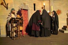 XIX edition Antignano Via Crucis (AT) -Act single 2007. Antignano (AT) -Italy: April 6, 2007: With a theatrical setting, Antignano (asti), April 6, 2007 Royalty Free Stock Photo
