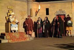 XIX edition Antignano Via Crucis (AT) -Act single 2007 Royalty Free Stock Photography