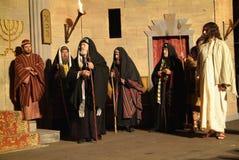 XIX edition Antignano Via Crucis (AT) -Act single 2007. Antignano (AT) -Italy: April 6, 2007: With a theatrical setting, Antignano (asti), April 6, 2007 Royalty Free Stock Photos