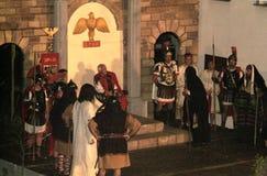 XIX edition Antignano Via Crucis (AT) -Act single 2007 Royalty Free Stock Photo