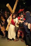 XIX edition Antignano Via Crucis (AT) -Act single 2007 Stock Photos