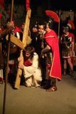 XIX edition Antignano Via Crucis (AT) -Act single 2007 Royalty Free Stock Images