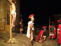 XIX edition Antignano Via Crucis (AT) -Act single 2007 Royalty Free Stock Image