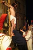 XIX edition Antignano Via Crucis (AT) -Act single 2007 Stock Photography