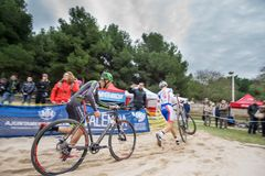 XIX Edition of Valencia City cyclo-cross kicks off Stock Image