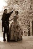XIX eeuw romantisch verhaal stock afbeelding