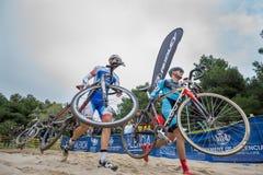 XIX l'édition du cyclo-cross de Valencia City donne un coup de pied  Photos stock