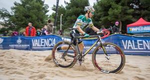 XIX l'édition du cyclo-cross de Valencia City donne un coup de pied  Photo stock