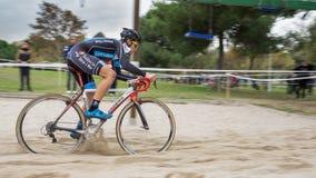 XIX l'édition du cyclo-cross de Valencia City donne un coup de pied  Photographie stock
