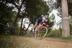 XIX l'édition du cyclo-cross de Valencia City donne un coup de pied  Photographie stock libre de droits