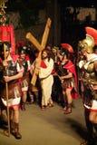 XIX la edición Antignano vía el acto de Crucis (EN) - escoge 2007 Imágenes de archivo libres de regalías