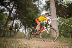 XIX sparkar upplagan av det Valencia City cyclo-korset av Royaltyfri Bild