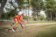 XIX sparkar upplagan av det Valencia City cyclo-korset av Royaltyfri Fotografi