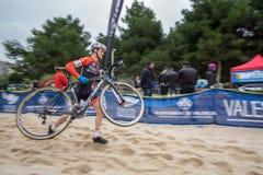 XIX sparkar upplagan av det Valencia City cyclo-korset av Royaltyfria Foton