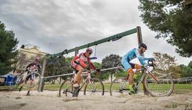 XIX sparkar upplagan av det Valencia City cyclo-korset av Royaltyfri Foto