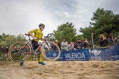 XIX sparkar upplagan av det Valencia City cyclo-korset av Arkivbilder
