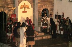 XIX upplaga Antignano via Crucis (PÅ) - agera singeln 2007 royaltyfri foto