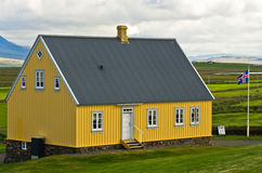 xix wiek stary drewniany dom przy Glaumbaer gospodarstwem rolnym Obraz Stock