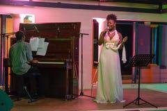 Xixel Langa führt Live bei Centro Cultural Franco-Moçamb durch Lizenzfreies Stockbild