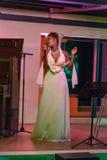 Xixel Langa führt Live bei Centro Cultural Franco-Moçamb durch Stockfotos