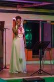 Xixel Langa  performs live at the Centro Cultural Franco-Moçamb Stock Photography