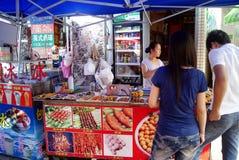 Xixiang de Shenzhen des casse-croûte locaux Images libres de droits