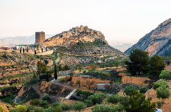 Xixona Castle of the Great Tower. Spain Royalty Free Stock Images