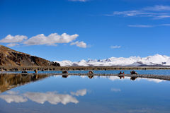 Tibet snow mountain Namu lake Stock Image