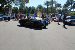Xk classique de jaguar dans le parking Images stock