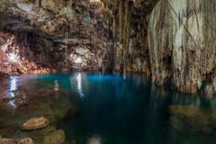 Xkeken cenote near Valladolid, Yucatan, Mexico.  royalty free stock photography