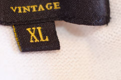 XL Label. An XL label on a piece of clothing Royalty Free Stock Photos