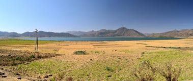 XL panorama of Ashenge Lake, Ethiopia Stock Photos