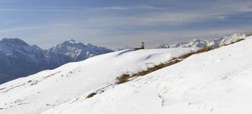 XL panorama of italian Alps in winter Stock Image