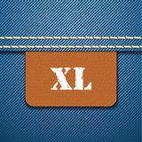 XL size clothing label -  Royalty Free Stock Image
